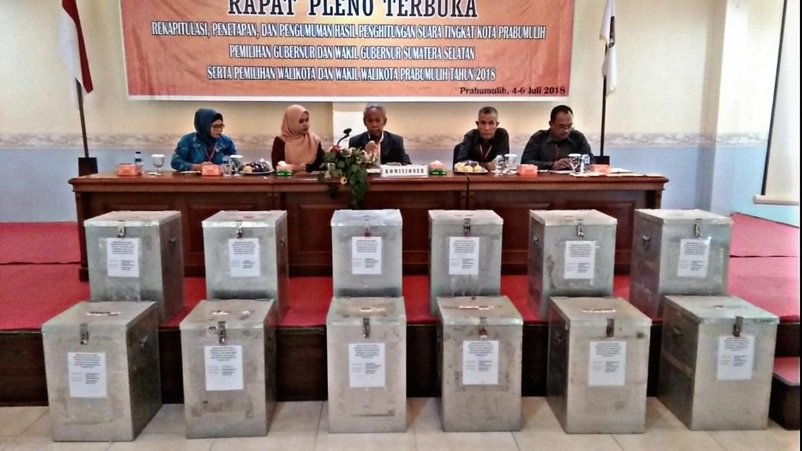 Rapat pleno KPU, HD-MY dan RIDHO-FIKRI unggul di pilkada kota Prabumulih