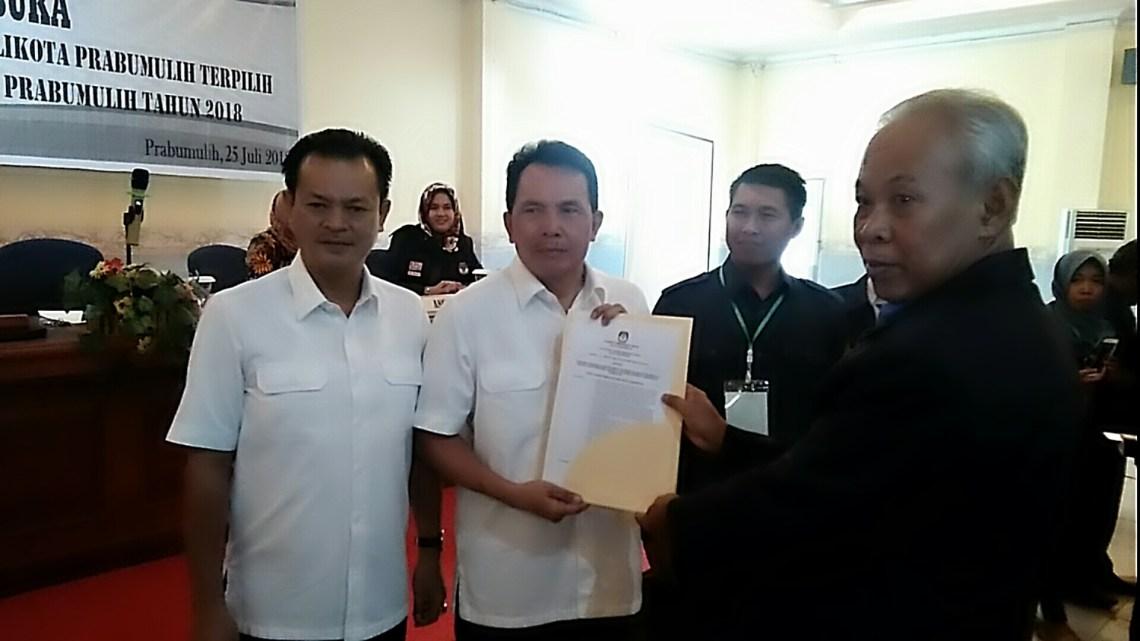 KPU tetapkan RIDHO-FIKRI menjadi walikota dan wakil walikota Prabumulih