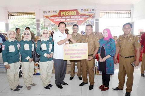 Pemkot Prabumulih Beri Bantuan Langsung Korban Tsunami Lampung