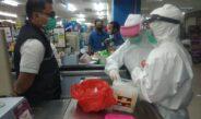 Pemkot Prabumulih Semprotkan Disinfektan Dan Beri Himbauan Kesehatan Di Citymall